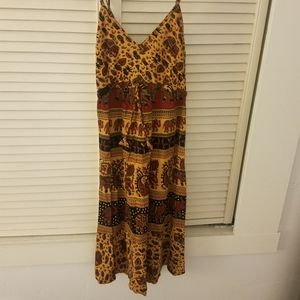 Boho Hippie Cotton Elephant Dress from Nepal